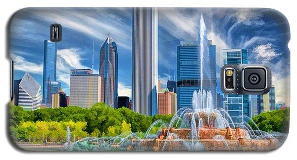 Buckingham Fountain Chicago Skyscrapers Galaxy S5 Case