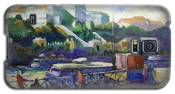 Galaxy S5 Case featuring the painting Budapest  Hungary by Paul Weerasekera