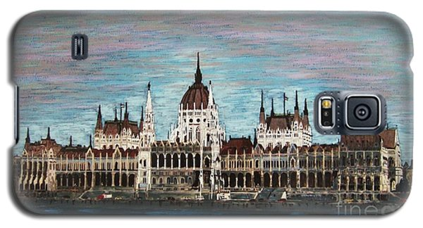 Galaxy S5 Case featuring the painting Budapest Parliament By Jasna Gopic by Jasna Gopic