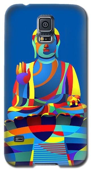 Galaxy S5 Case featuring the digital art Buddha Blue by Randall Henrie