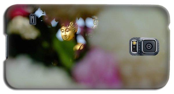 Buddha In Flowers Galaxy S5 Case