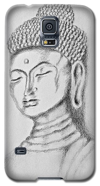Galaxy S5 Case featuring the drawing Buddha Study by Victoria Lakes