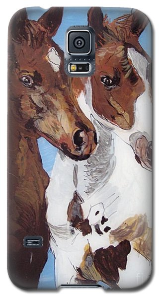 Galaxy S5 Case featuring the painting Buddies by Lucia Grilletto