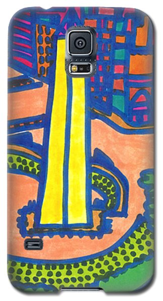 Galaxy S5 Case featuring the drawing Buenos Aires  by Don Koester
