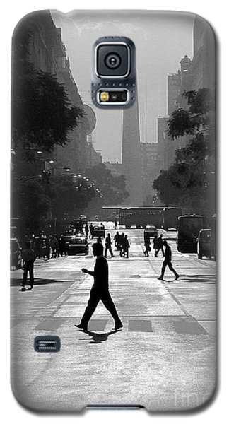 Galaxy S5 Case featuring the photograph Buenos Aires Obelisk II by Bernardo Galmarini