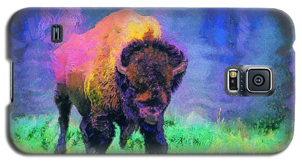Buffalo At Yellowstone Galaxy S5 Case