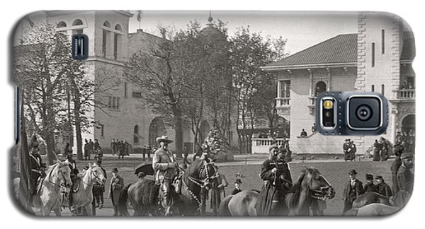 Galaxy S5 Case featuring the photograph Buffalo Bill Columbian Exposition 1893 by Martin Konopacki Restoration