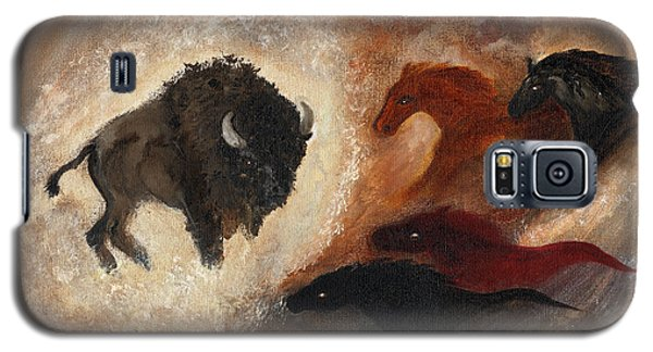 Galaxy S5 Case featuring the painting Buffalo Dream by Barbie Batson