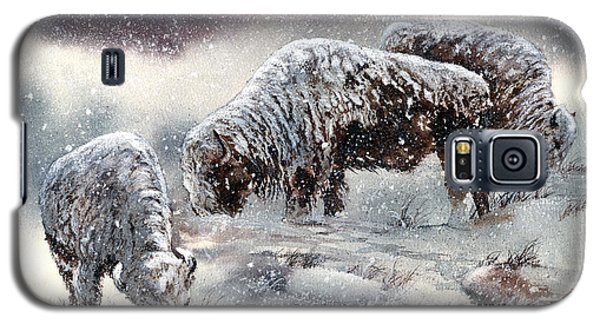 Buffalo In Snow Galaxy S5 Case