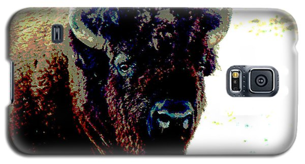 Galaxy S5 Case featuring the photograph Buffalo In Snow by Linda Cox