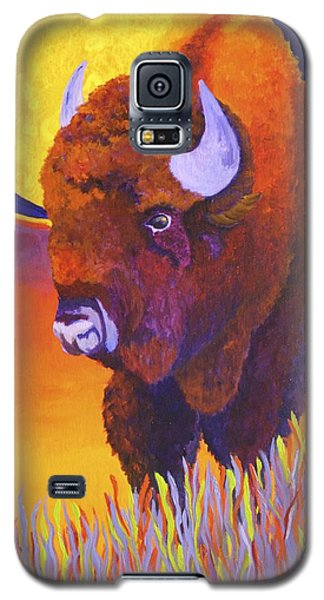 Galaxy S5 Case featuring the painting Buffalo Moon by Nancy Jolley