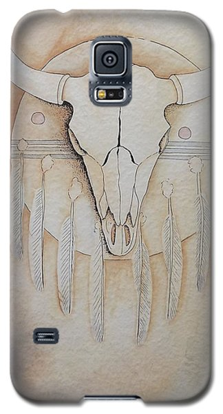 Galaxy S5 Case featuring the painting Buffalo Shield by Richard Faulkner