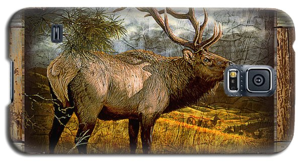 Galaxy S5 Case featuring the painting Bugling Elk by JQ Licensing