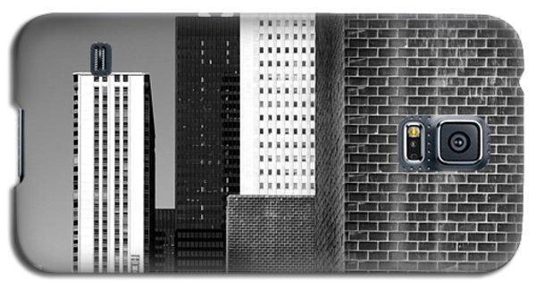 Building Blocks Black White Galaxy S5 Case
