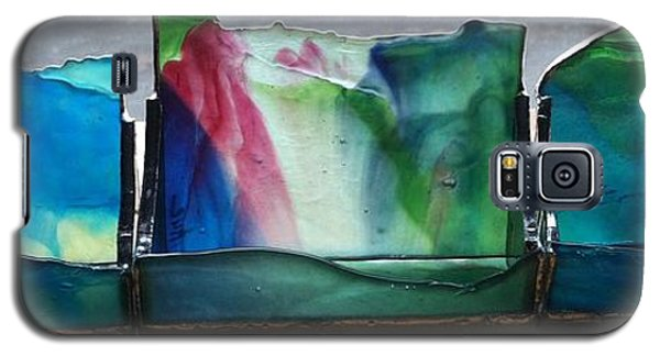 Galaxy S5 Case featuring the glass art Buisiness Card Holders by Karin Thue