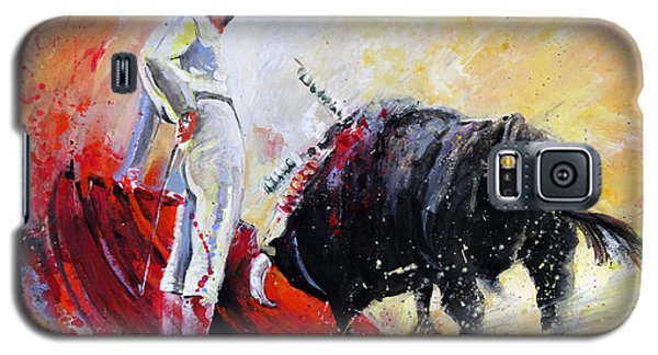 Bull In Yellow Light Galaxy S5 Case