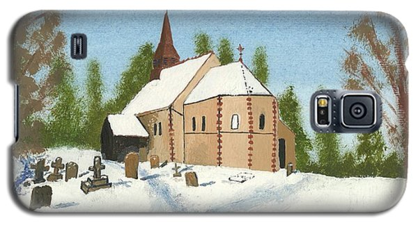 Galaxy S5 Case featuring the painting Bulley Church by John Williams