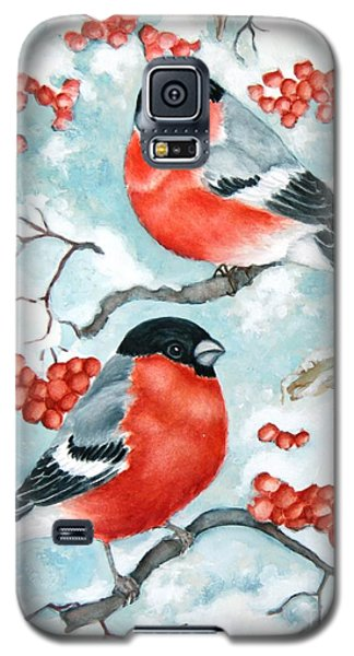 Bullfinch Couple Galaxy S5 Case