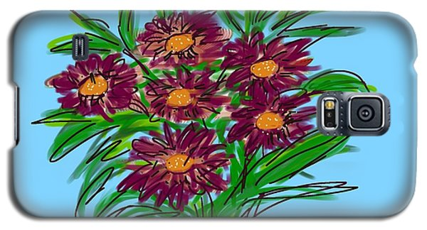 Galaxy S5 Case featuring the digital art Bunch Of Daisies by Christine Fournier