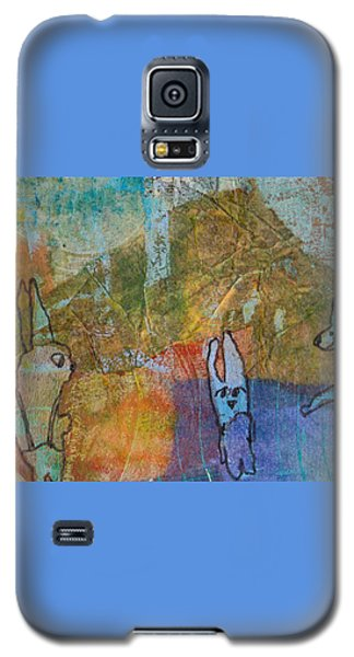 Galaxy S5 Case featuring the mixed media Bunny Ballet by Catherine Redmayne