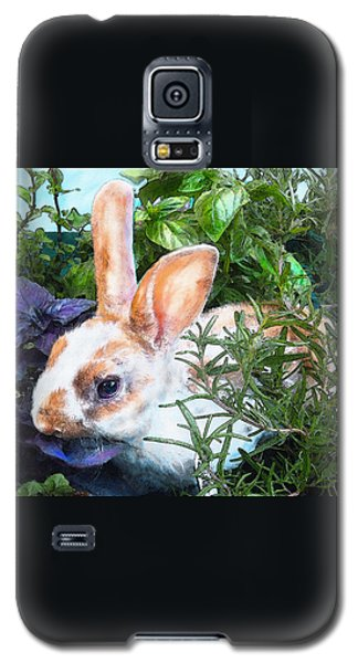 Bunny In The Herb Garden Galaxy S5 Case by Jane Schnetlage