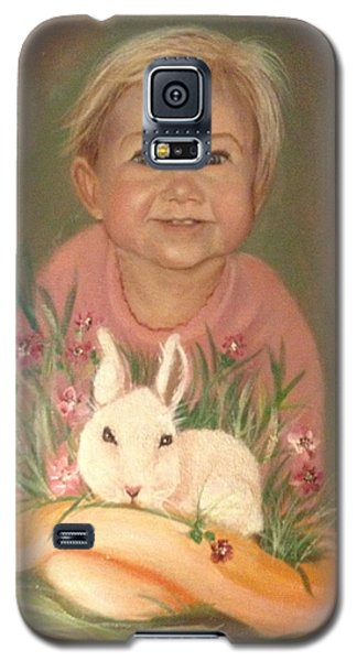 Galaxy S5 Case featuring the painting Bunny Rabbit by Sharon Schultz