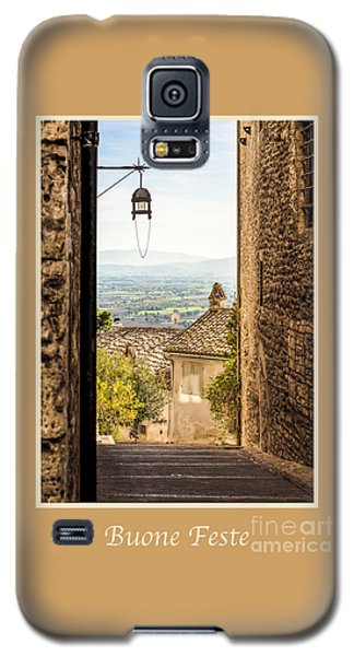 Buone Feste With Valley Outside Of Assisi Galaxy S5 Case
