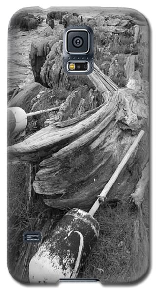 Galaxy S5 Case featuring the photograph Buoys By The Sea by Jean Goodwin Brooks