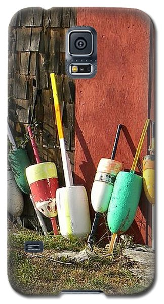 Galaxy S5 Case featuring the photograph Buoys by Jean Goodwin Brooks