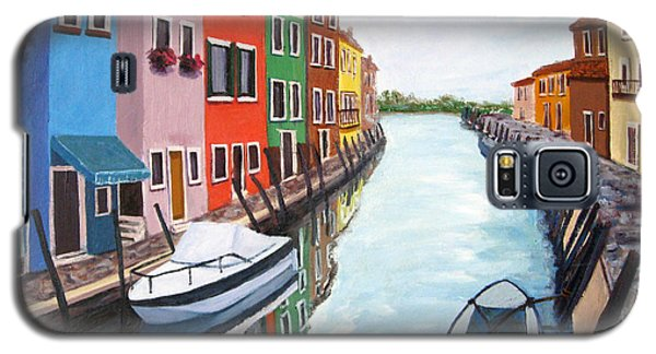 Galaxy S5 Case featuring the painting Burano by Cheryl Del Toro
