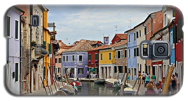 Galaxy S5 Case featuring the photograph Burano Island by Cendrine Marrouat