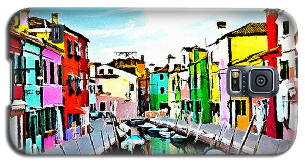 Galaxy S5 Case featuring the painting Burano - Venice - Italy by Ze  Di
