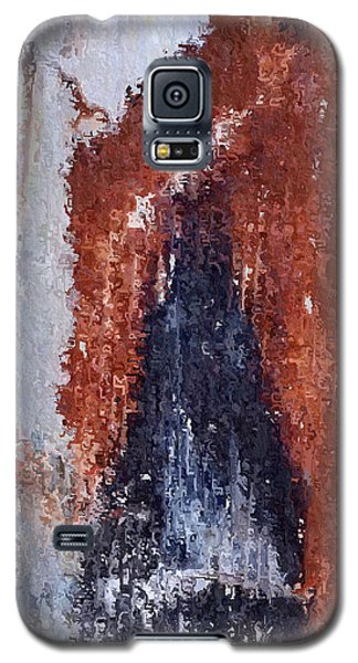 Galaxy S5 Case featuring the digital art Burgundy And Black by Heidi Smith