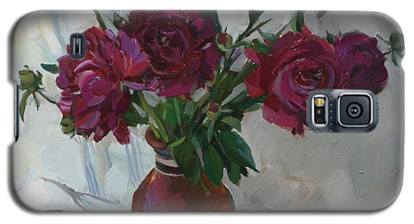 Burgundy Peonies Galaxy S5 Case