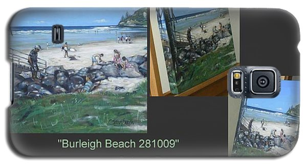 Galaxy S5 Case featuring the painting Burleigh Beach 281009 by Selena Boron
