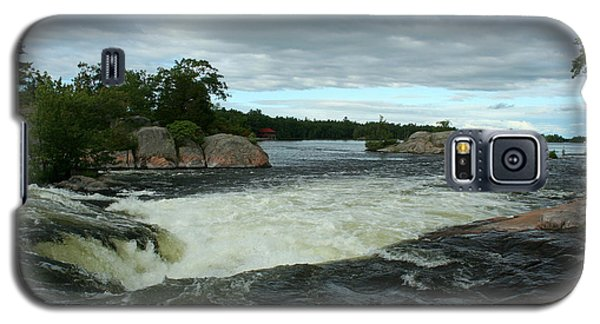 Galaxy S5 Case featuring the photograph Burleigh Falls by Barbara McMahon