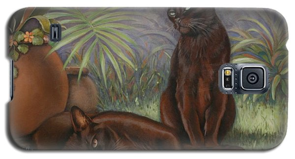 Galaxy S5 Case featuring the painting Burmese Beauty by Cynthia House