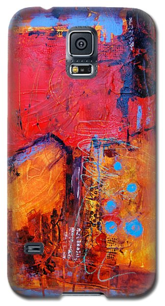 Galaxy S5 Case featuring the painting Burning Tree by Ron Stephens