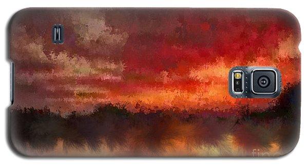 Burnt Sunset Galaxy S5 Case