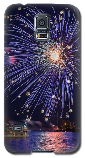 Burst Of Blue Galaxy S5 Case