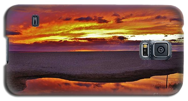 Galaxy S5 Case featuring the photograph Burst Of Sunset Improves Overcast Day by Craig Wood