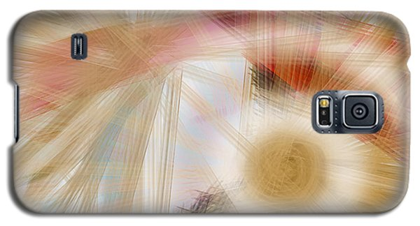 Galaxy S5 Case featuring the digital art Bursting Brushes by Constance Krejci
