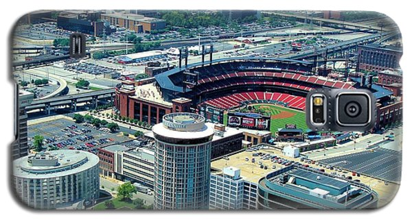 Busch Stadium From The Top Of The Arch Galaxy S5 Case by Janette Boyd