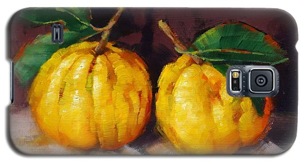 Galaxy S5 Case featuring the painting Bush Lemons by Margaret Stockdale