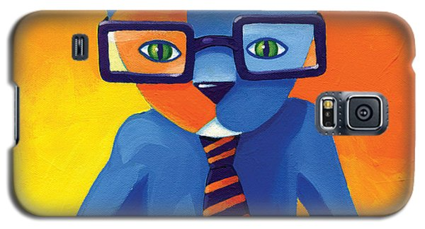 Galaxy S5 Cases - Business Cat Galaxy S5 Case by Mike Lawrence