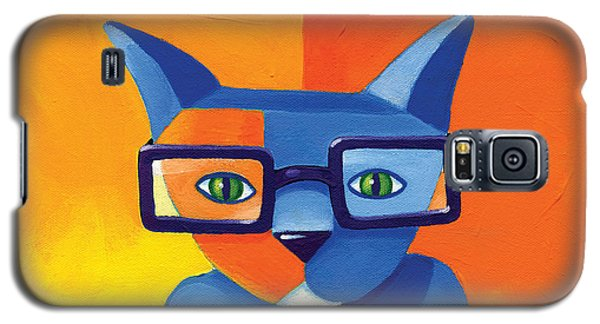 Business Cat Galaxy S5 Case by Mike Lawrence