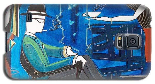Businessman Sitting In Chair Galaxy S5 Case