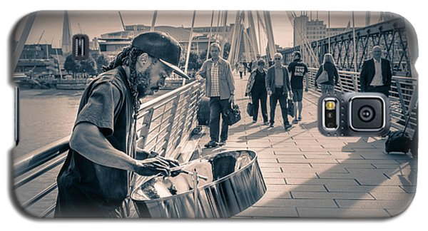 Busker Playing Steel Band Drum Steelpan In London Galaxy S5 Case