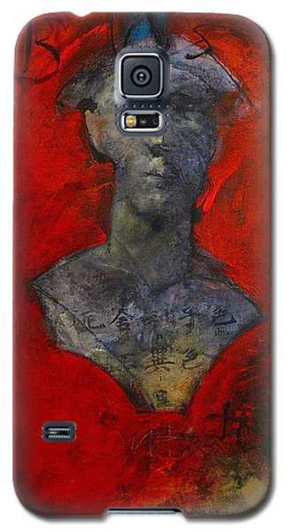 Galaxy S5 Case featuring the painting Bust Ted - With Sawdust And Tinsel  by Cliff Spohn