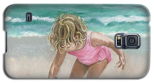 Busy Beach Girl Galaxy S5 Case